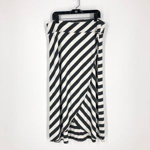 Athleta Midi Striped Ribbon Skirt M